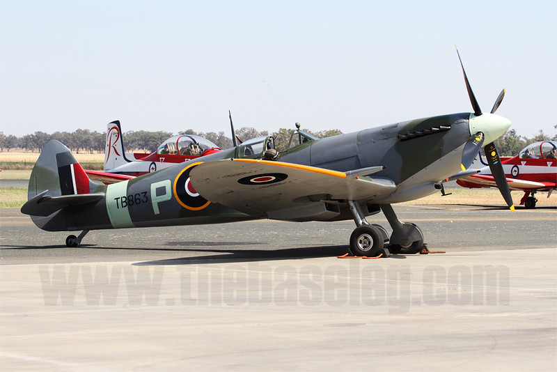 First time I've seen Temora Aviation Museum's Spitfire LF.XVI VH-XVI. The museum has another Spitfire in it's flyable collection, a Mk.VIII.