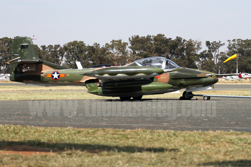 Temora's Cessna A-37B Dragonfly light-attack jet VH-DLO was scheduled to fly, but sadly for unknown reasons, did not.