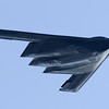 "The Northrop Grumman B-2 Spirit (also known as the Stealth Bomber) is a multirole heavy bomber with ""low observable"" stealth technology capable of penetrating dense anti-aircraft defenses to deploy both conventional and nuclear weapons. Because of its astronomical capital and operations costs, the project was controversial in Congress and among Pentagon brass during its development and placement into service. In time, Congress scaled back initial plans to purchase 132 of the bombers. By the early 1990s the United States elected to purchase just 21 of the bombers at US$737 million per aircraft. Total program cost averaged US$2.1 billion per aircraft in 1997 dollars.[3]<br /> <br /> The B-2 is operated exclusively by the United States Air Force with none in the Air Force Reserves. Though originally designed in the 1980s for Cold War operations scenarios, B-2s have been used in combat to drop bombs on Kosovo in the late 1990s, and see continued use during the ongoing Wars in Iraq and Afghanistan.<br /> <br /> Featuring formidable design specifications, a two officer crew aboard the bomber can drop up to eighty 500 lb (230 kg) class JDAM ""smart"" bombs, or sixteen 2,400 lb (1,100 kg) B83 nuclear bombs in a single pass through extremely dense anti-aircraft defenses. The bomber has been a prominent public spectacle at air shows since the 1990s. It has been the subject of espionage and counter-espionage activity."