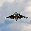 """AV-8B Harrier II<br /> Role V/STOL strike aircraft<br /> Manufacturer McDonnell Douglas / British Aerospace<br /> Boeing / BAE Systems<br /> First flight 9 November 1978 (YAV-8B)<br /> Introduction 12 January 1985 (AV-8B)<br /> June 1993 (AV-8B+)<br /> Primary users United States Marine Corps<br /> Spanish Navy<br /> Italian Navy<br /> Produced AV-8B/B+: 1981-2003[1]<br /> Unit cost US$6.7 million in 1988 (AV-8A)<br /> US$30-35 million in 1997 (Harrier II Plus)[2]<br /> Developed from Hawker Siddeley Harrier<br /> BAE Sea Harrier<br /> Variants BAE Harrier II<br /> <br /> The McDonnell Douglas AV-8B Harrier II is a family of second-generation vertical/short takeoff and landing or V/STOL jet multirole aircraft of the late 20th century. British Aerospace rejoined the project in the early 1980s, and it has been managed by Boeing/BAE Systems since the 1990s.<br /> <br /> Developed from the earlier Hawker Siddeley Harriers, it is primarily used for light attack or multi-role tasks, typically operated from small aircraft carriers and large amphibious assault ship. Versions are used by several NATO countries, including the United Kingdom, Spain, Italy, and the United States.<br /> <br /> The aircraft is known as the AV-8B Harrier II in United States Marine Corps service and the Harrier GR7/GR9 in British service. Though it shares the designation letter-number with the earlier AV-8A/C Harrier, the AV-8B Harrier II was extensively redesigned by McDonnell Douglas. The AV-8A was a previous-generation Hawker Siddeley Harrier GR.1A procured for the US Marine Corps. These models are commonly referred to as the """"Harrier Jump Jet""""."""