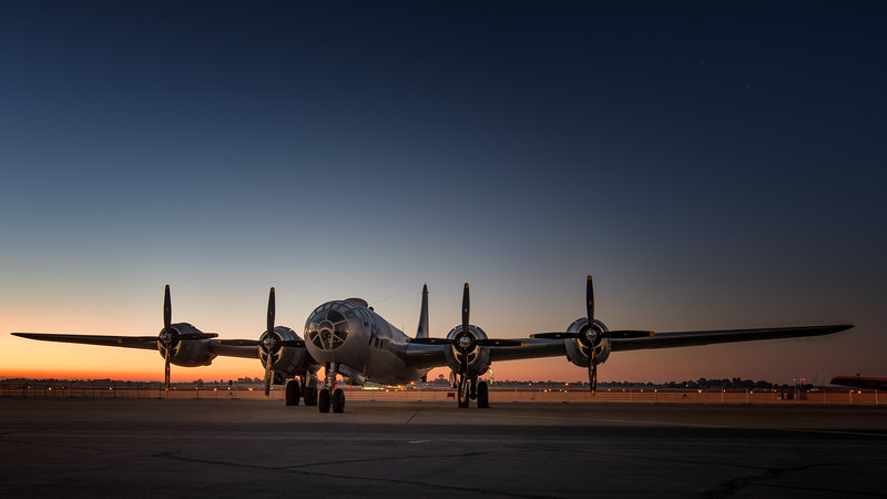 B-29 Super Fortress at Sunrise
