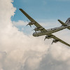 """Boeing B-29 Superfortress """"FIFI"""" flyby at World War II weekend in Reading Pennsylvania on June 2, 2018."""