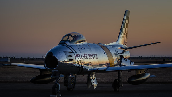 F-86 Sabre at Sunset