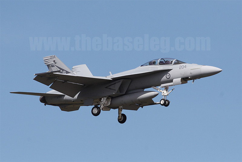 RAAF Boeing F/A-18F Super Hornet A44-204 of 1 Sqn based at RAAF Amberley
