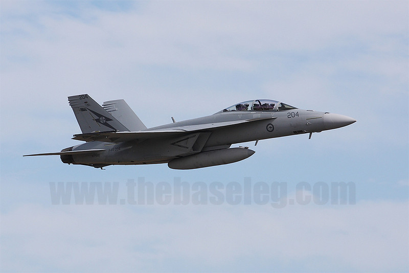 F/A-18F Super Hornet A44-204 was among the first batch of RAAF Super Hornets to arrive in Mar 2010.