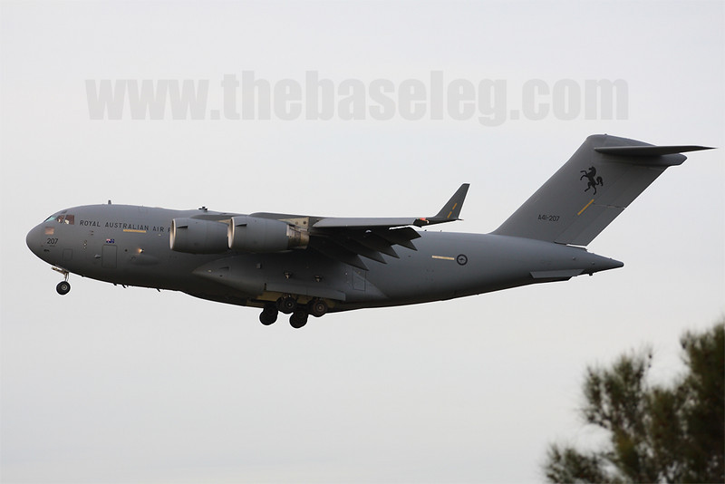 RAAF Boeing C-17A Globemaster III A41-207 of 36 Sqn at RAAF Amberley