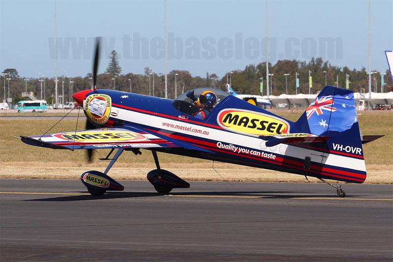 Former RAAF F/A-18 pilot Matt Hall gives a thumbs up from his Giles 202 VH-OVR