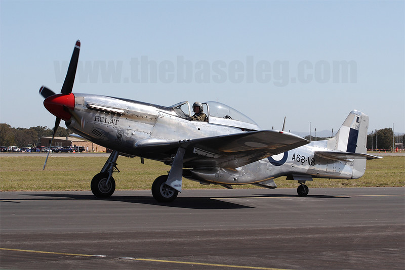 CAC Mustang VH-AGJ taxis out for its display