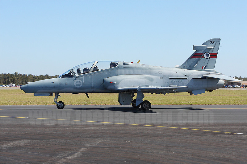 BAe Hawk 127 A27-28 Lead-In Fighter of RAAF 76 Sqn