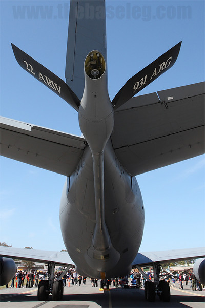 Closeup of the refuelling boom of the KC-135R
