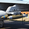 GBU-38 500-lb JDAM and Mk.82 Snakeye fin-retarded bomb mounted on an F/A-18 Vertical Ejector rack