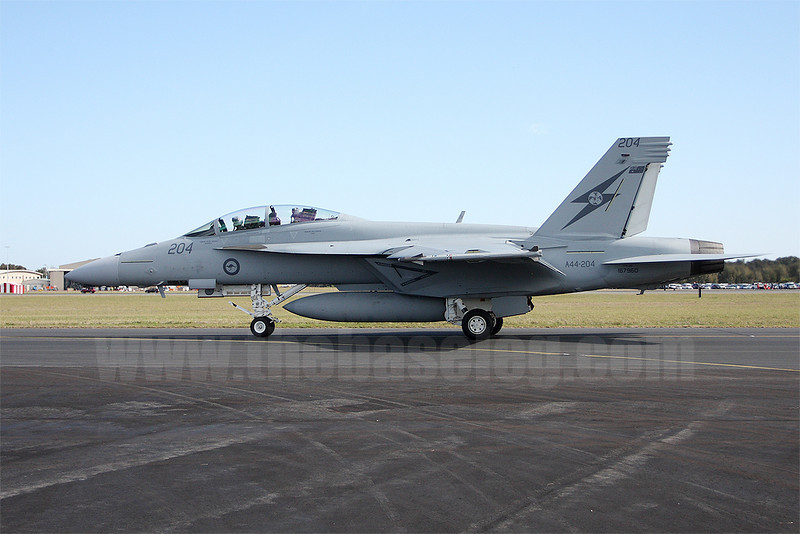 RAAF F/A-18F Super Hornet A44-204/167960 of 1 Sqn, based at Amberley