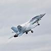 Hornet on takeoff
