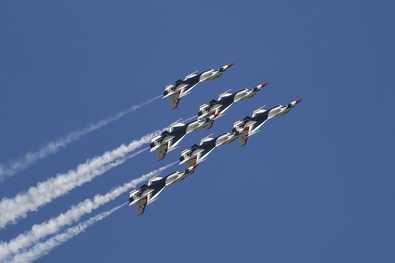 USAF Thunderbirds at Travis AFB Air Show