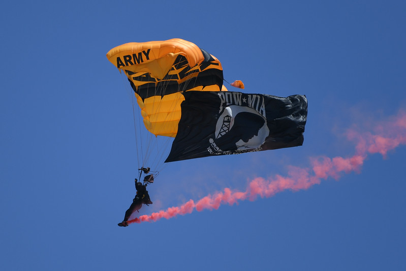 US Army Golden Knights at Travis AFB Air Show