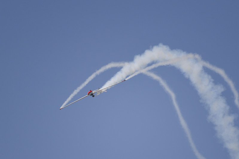 Bob Carlton's Super Salto Jet Sailplane at Travis AFB Air Show