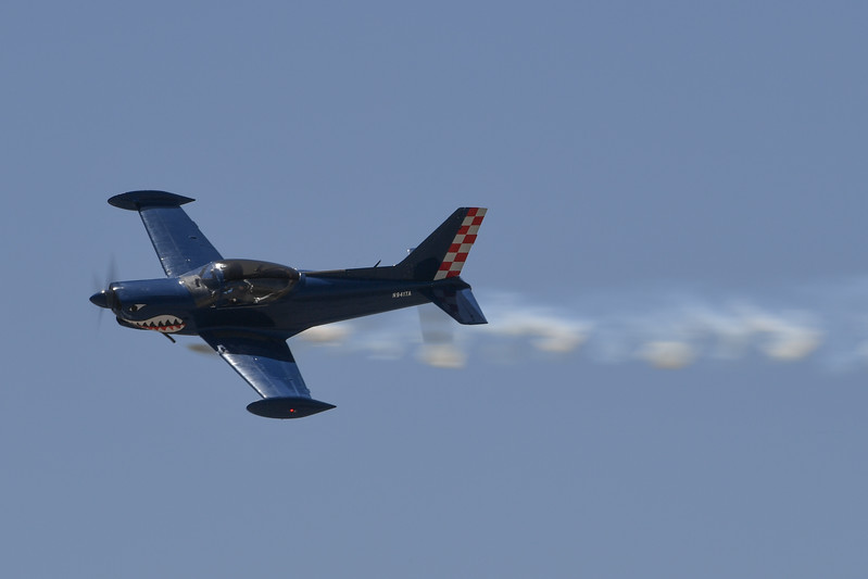 Rich Perkin's Marchetti SF-250 at Travis AFB Air Show