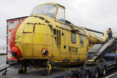 This Royal Navy Whirlwind (reg: XM660, cn:WA251) was painted in a Royal Air Force c/s during its retirement to a UK museum. It seems its best days are over now ;-( It was seen being transported on a truck to a new destination. Shot was taken while the truck was on a parking lot next to the E-19 highway at Minderhout (Belgium).