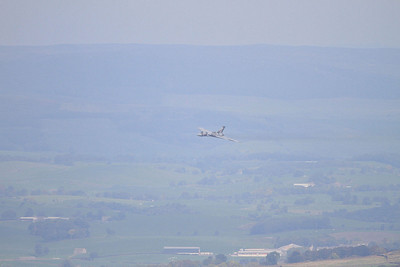 XH558 hoves into view ... what a lovely sight - 10/10/15.