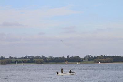 XH558 over Rutland Water - 11/10/15.