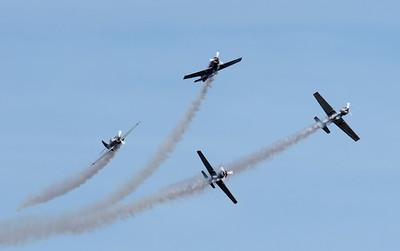 Yakovlevs air display team, 2008