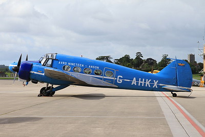 Avro XIX Anson, G-AHKX, on static display - 02/07/16.