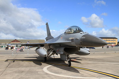 Royal Netherlands Air Force General Dynamics F-16AM Fighting Falcon, J-871, on static display - 02/07/16.