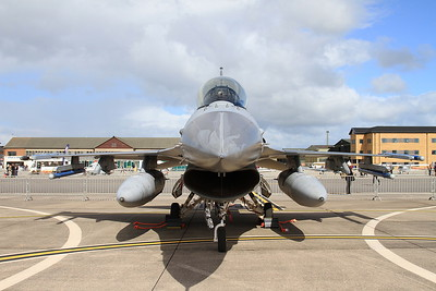 Royal Netherlands Air Force General Dynamics F-16AM Fighting Falcon, J-201, on static display - 02/07/16.