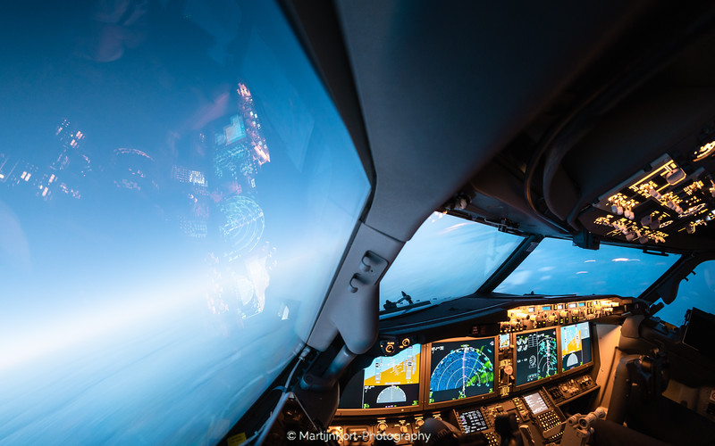 Boeing 737 Max 8 at night