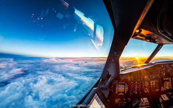 Sunset from high above