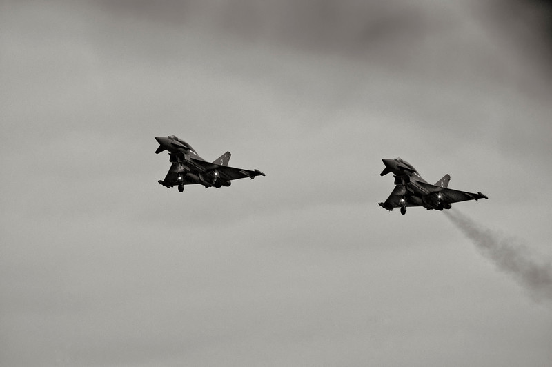 RAF Eurofighter Typhoon FGR4's from 29 Squadron
