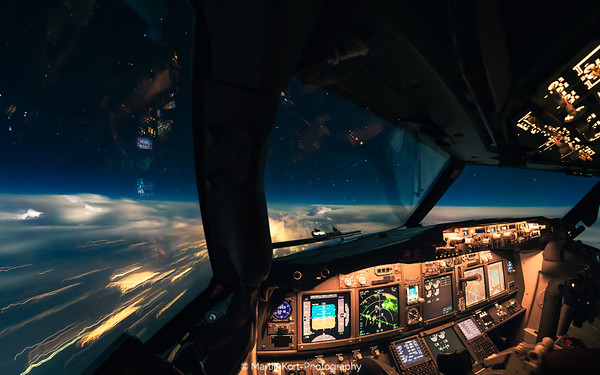 Thunderstorms from the cockpit