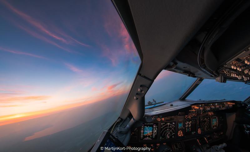 Sunrise over Markermeer