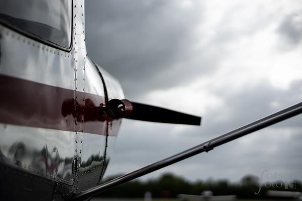 Cessna 140 on the Ramp at KJYO