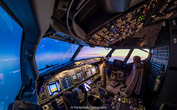 Cockpit sunset