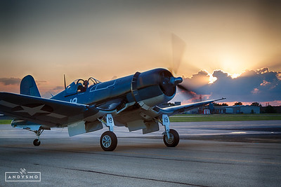 FG-1D Corsair at Sunset