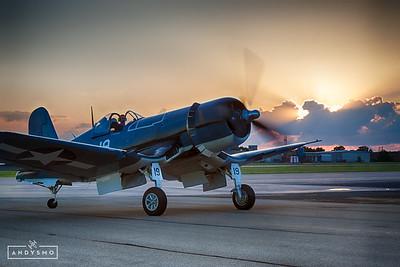 FG-1D Corsair at Sunset