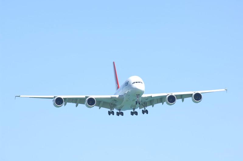 Qantas A380 Maiden Adelaide Landing