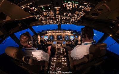 Cockpit at twilight