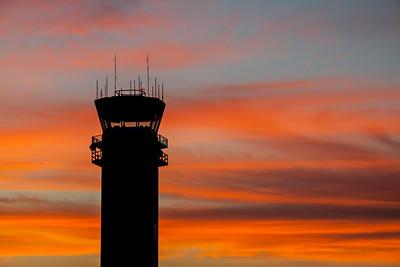 """ATC tower sunrise"""