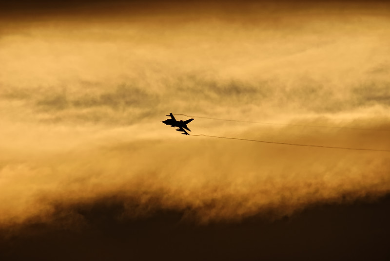 Tornado GR4 In The Sunset
