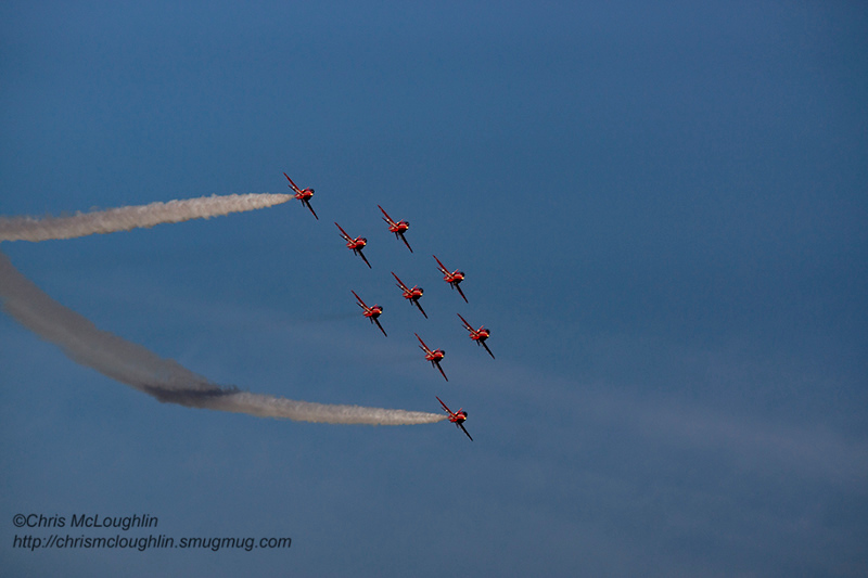 RAF Red Arrows at RAF Linton-on-Ouse last week