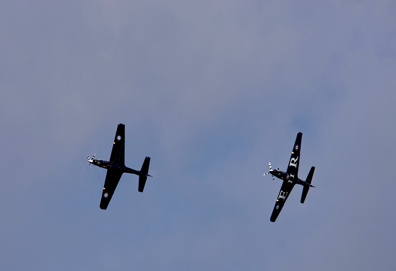 RAF Tucano Display 2012 (backup aircraft)