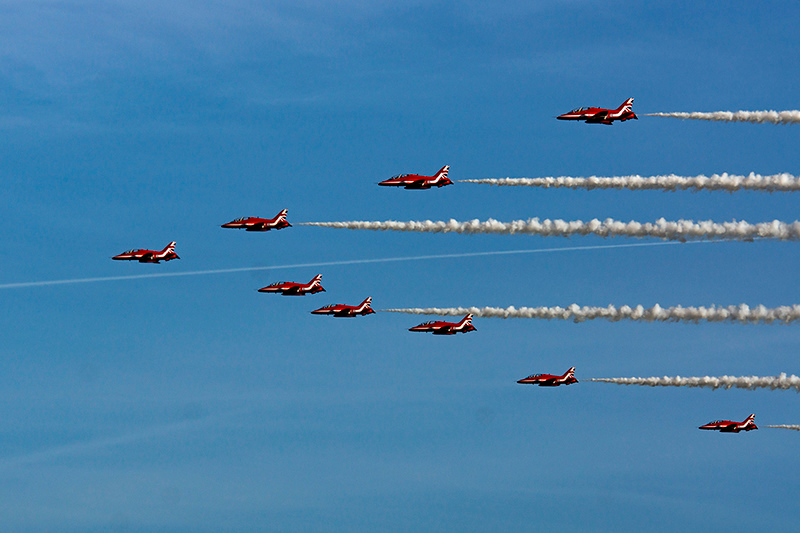 Red Arrows at RAF Linton-on-Ouse