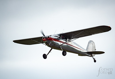 Cessna 140 Climbing out of KJYO