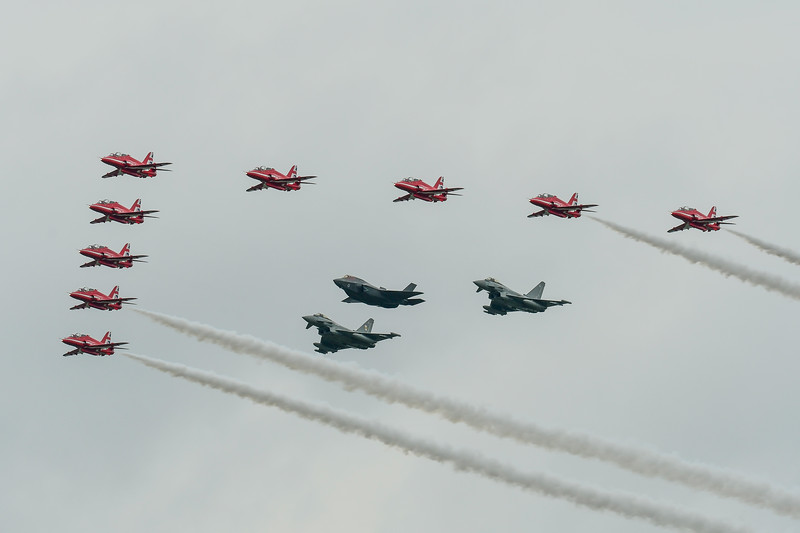 Red Arrows, F35b, Typhoons RIAT