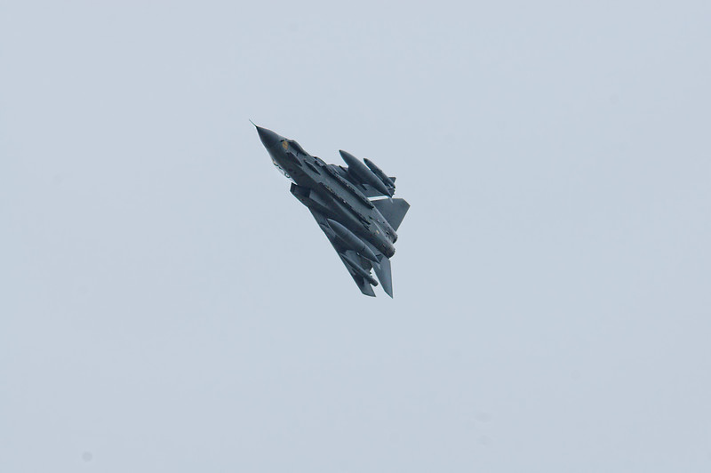 Tornado GR.4 ZG713 123 in high speed pass RAF Linton on Ouse