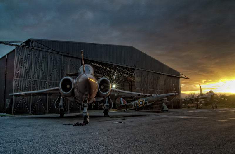 Buccaneer, Hurricane And The Lightning At Sunset