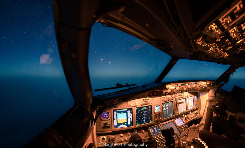 Bloodmoon 2018 from the cockpit