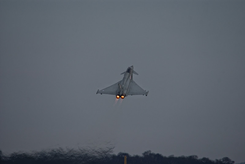 RAF Typhoon going vertical